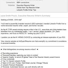 Resume And Linkedin Profile Writing Resume Template