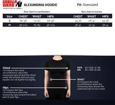 Hoodie Size Chart Alexandria Hoodie Black Xs S