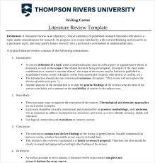 Literature Review Outline 9 Literature Review Outline Templates Samples Free