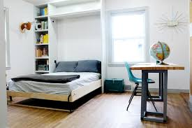 interior decoration of small bedroom. Beautiful Small Interesting Bedroom Storage FUrniture Of Hidden Bed Beside High Book Shelves And Interior Decoration Small E