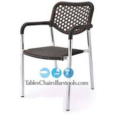 Stella Commercial Outdoor Aluminum Plastic Wicker Dining Chair Bar