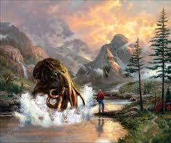 lovecraftian thomas kinkade paintings