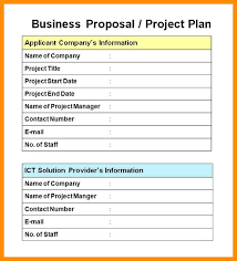 5 Business Project Proposal Example Template Doc – Onbo Tenan