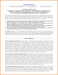 General Manager Resume Good Resume Examples