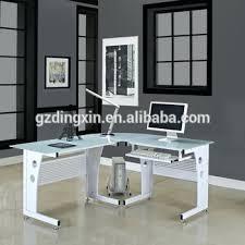 glass computer desk office depot. desk corner glass computer pc table black white new l shape with shelf office depot
