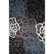contemporary modern fl flowers gray 9 ft x 12 ft area rug 108 grey 9x12 the home depot