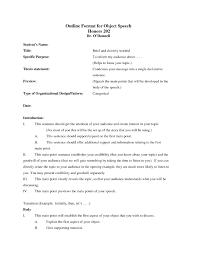 Speech Outline Format 25 Self Introduction Speech Outline Template Markcritz