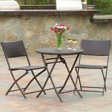 cantinela 3pc outdoor wicker folding bistro set contemporary patio