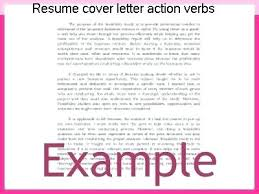 Action Verbs For Resumes And Cover Letters Words For Cover Letters