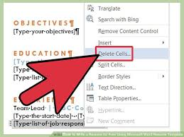 Using I In A Resume ] | Using Resume Template Microsoft Word Writing ...