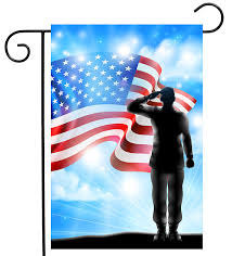 shinesnow american flag veterans day solr military garden yard flag 12 x 18 double sided polyester memorial patrotic army 4th of july welcome house