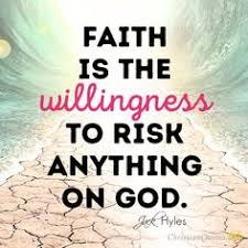 Image result for picture biblical of faith with risk