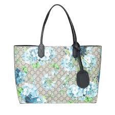 gucci reversible gg leather tote beige blue