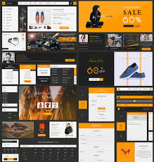 Ecommerce Ui Kit Free Psd Template At Downloadfreepsd Com