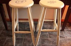 Stool Poly Wood Morroco Counter Faux Leather Saddle Stool By