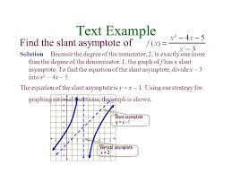 text example find the slant asymptote of