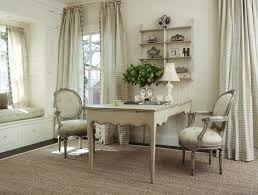 neutral home office ideas. Shabby Chic Home Office Ideas Shabby-chic Style With Built In Seat Floral Arrangement Neutral Colors