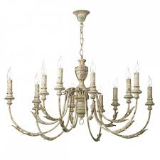 elegant french country chandelier large vintage style light fitting u k painted wood white shade kitchen home