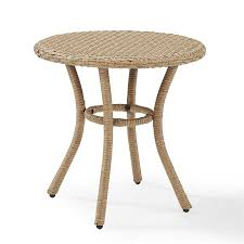 crosley furniture palm harbor outdoor wicker round side table