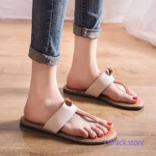 Womens Slipper Size Chart Flip Flops Women Slippers Anti Skid White Fashion Flat Beach
