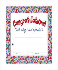 Congratulation Certificate 9 Congratulation Certificate Templates Free Printable Word Pdf