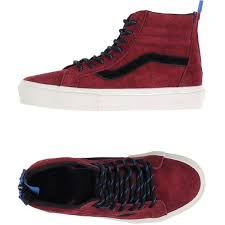 vans shoes red and black high tops. vans high-tops \u0026 trainers ($100) ❤ liked on polyvore featuring shoes, shoes red and black high tops o
