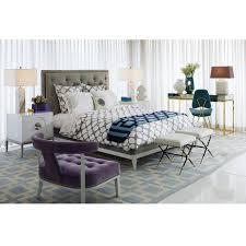 grey hollywood duvet cover  modern bed  bath  jonathan adler