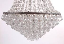 french art deco glass and cut crystal chandelier