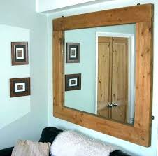 rustic wood wall mirror large wooden framed mirrors apply big for bathroom woode rustic wood framed mirrors
