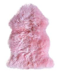 pink new zealand sheepskin rug