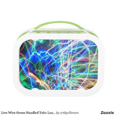 live wire green handled yubo lunch box
