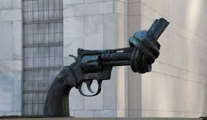 u s public health emergencies maternal mortality and gun non violence a bronze sculpture by swedish artist carl fredrik reuterswaumlrd of an oversized