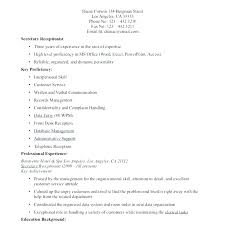 Sample Of Secretary Resume Unit Secretary Resume Sample Medical
