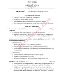Resume Sample Animal Care Gorgeous Resume For Work