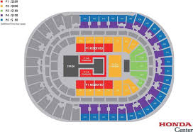 Anaheim Pond Seating Chart Honda Center Seating Chart Armys Amino