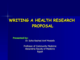 How To Develop A Research Proposal Mesmerizing Writing A Health Research Proposal
