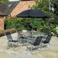 black outdoor dining set 8 piece black patio dining set parasol 6 seats black aluminum outdoor dining set