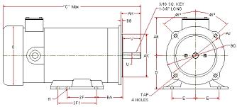 Dc Motor Dimension Chart