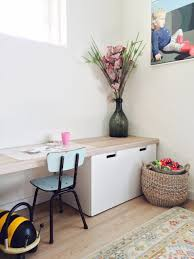 ikea stuva children s desk hack with a custom top made from floor panels great solution