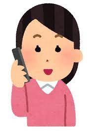 いろいろな表情の電話をする人のイラスト(女性) | かわいいフリー素材集 いらすとや