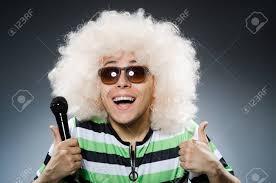 白で隔離アフロの髪型と変な男 の写真素材画像素材 Image 38224437