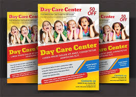 Free Childcare Advertising 25 Beautiful Free Paid Templates For Daycare Flyers