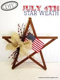 diy july 4th wooden star wreath top easy patriot holiday interior decor design