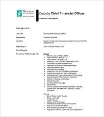 Cfo Job Description Template 9 Free Word Pdf Format