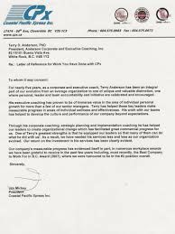 Leadership Recommendation Letter Letters Of Recommendation Consulting Coach Anderson Corporate 17
