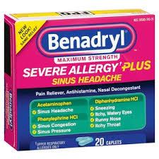 Benadryl Severe Allergy Plus Sinus Headache Relief Caplets Reviews ...