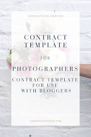 Photography Contracts Photography Contract For Use With Bloggers Ashlee Hightower