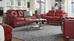 decorating with red furniture. Cindy Crawford Living Room Set Living Room Set With Red  Leather Sofa, Loveseat And Chair Decorating Furniture