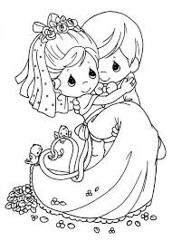 Small Picture Vibrant Design Wedding Coloring Pages For Kids Precious Moments
