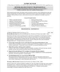 Sample Resume Recruiter Waiter Resume Examples For Letters Job